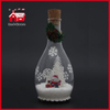 LED Christmas Decoration Glass Bottle Decoration Flower Decorative Glass Bottle Cute Santa Inside Glass Giftware