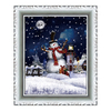 (WP046ST4-RJG) Decorative Wall Plaque with Santa Scene, Falling Snows and Music for Christmas Party