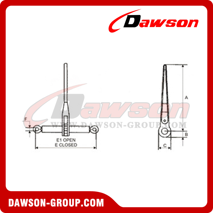 Alloy Steel Drop Forged Ratchet Type Load Binder Without Links Or Hooks