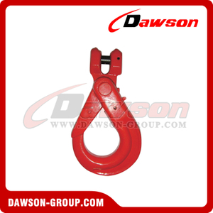 DS082 G80 European Type Clevis Self-locking Hook for Lifting Chain Slings