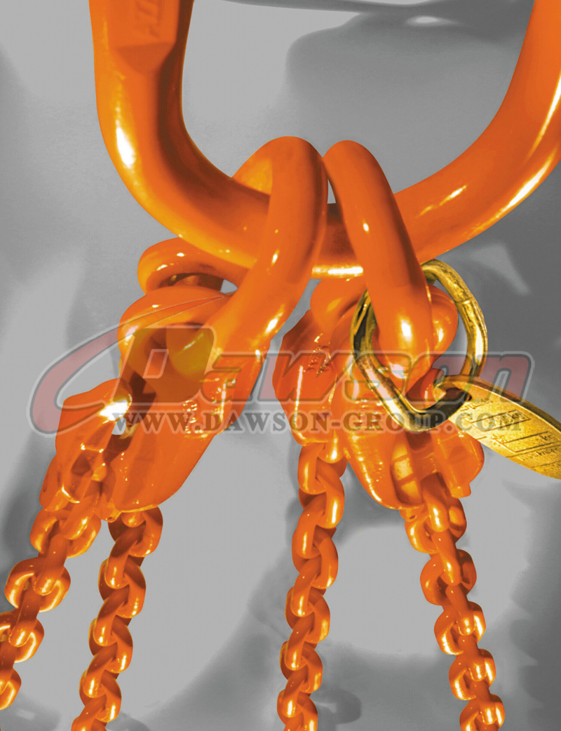 Application of Grade 80 Welded Alloy Steel Master Link with Flat for Chain Slings / Wire Rope Slings