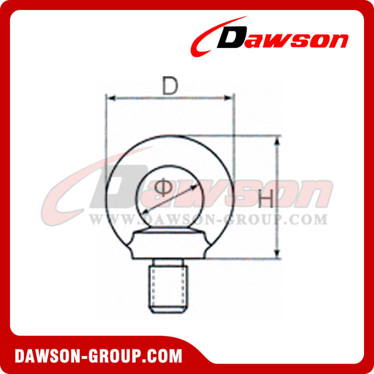 GALVANIZED EYE BOLTS DIN 580 – LIFTING EYE SCREW DAWSON-GROUP