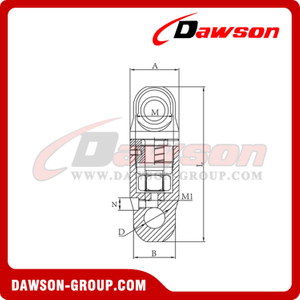 Grade 80 / G80 Rotation Swivel For Hoist
