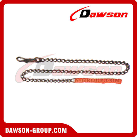 Animal Chain Dog Lead With Nylon Handle PVC Handle