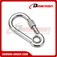 Snap Hook + With Eyelet and Screw with Zinc Plated