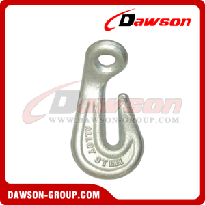 DS063 G80 Forged Alloy Steel Eye Bend Hook for Lashing and Pulling