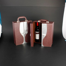 Wine Box Manufacturer Pu leather custom gift boxes for wine