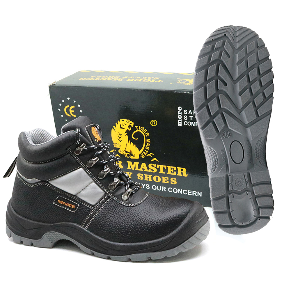 Anti Slip Steel Toe Puncture Proof Anti Static Mining Safety Shoes S3 SRC