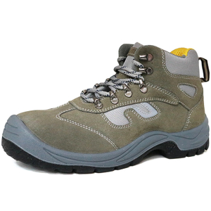 Non Slip Suede Leather Anti Static Low Priced Safety Shoes Steel Toe Cap