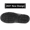 2021 New Design Steel Toe Puncture Proof Black Safety Shoes for Men
