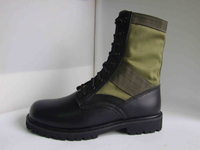 Black and sage green army jungle boots