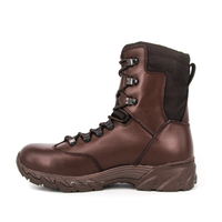 Combat brown military tactical boots 4265