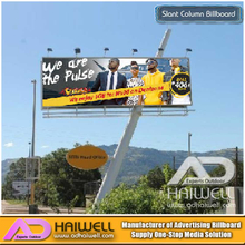 Oblique Square Pillar Street Advertising LED Backlit Billboard on Sale