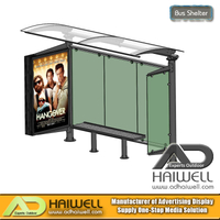 Bus Shelter | With Mupi Advertising Light Box | Adhaiwell.com