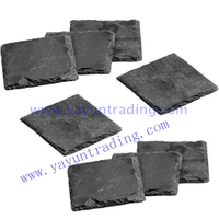 rectangular tableware 100% natural slate coaster