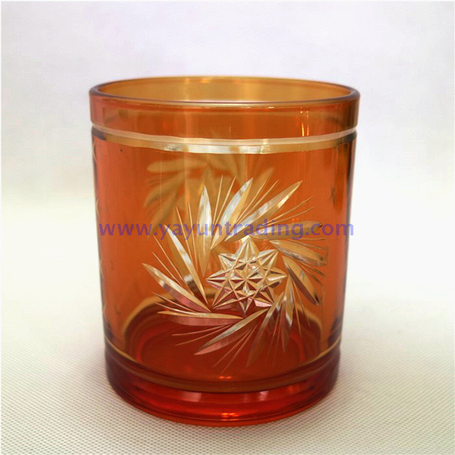 wind swirl promotional desk glass candle holder
