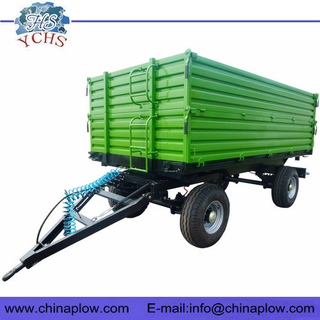 Two axle dump trailer for tractor