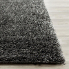 5'×8' Polyester Area Rug Charcoal Shag Carpet