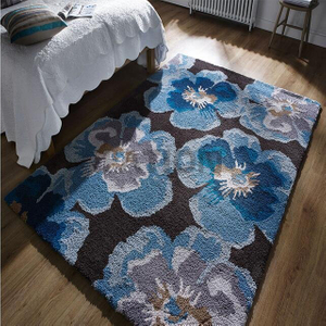 Super Soft Polyester Area Rug Dense Shaggy Carpet