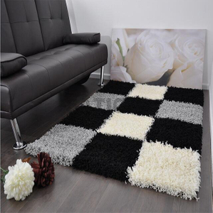 5'×8' Comfortable Shag Collection Carpet Plain Area Rug
