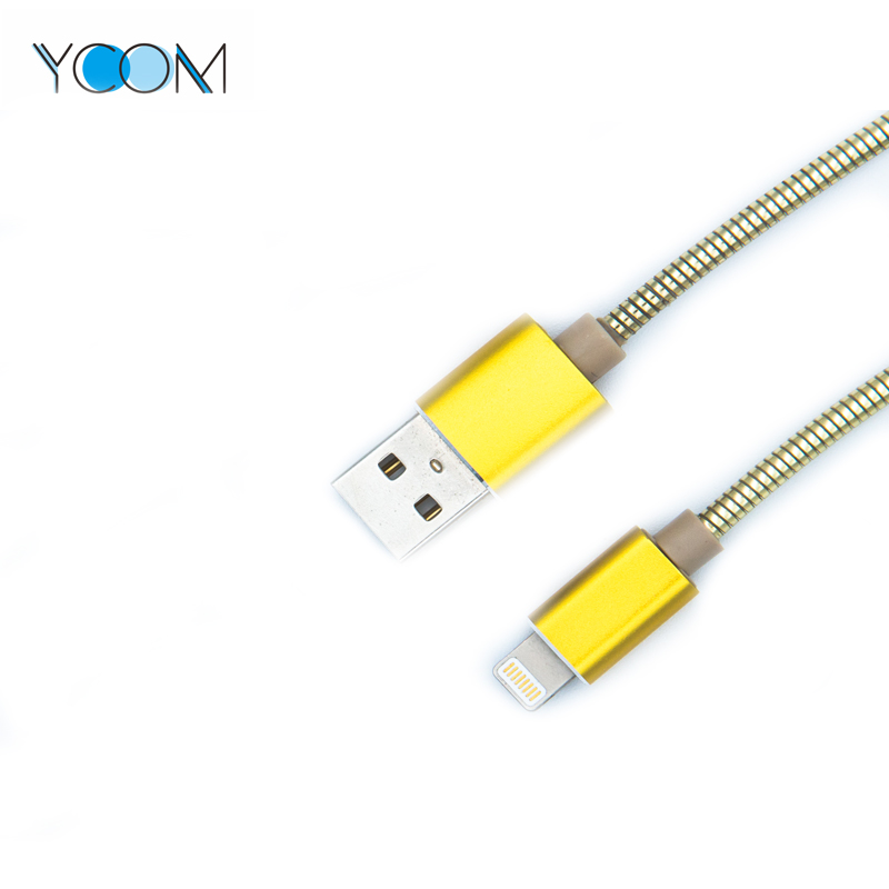 Spring & Magnetic USB Cable For Lighting