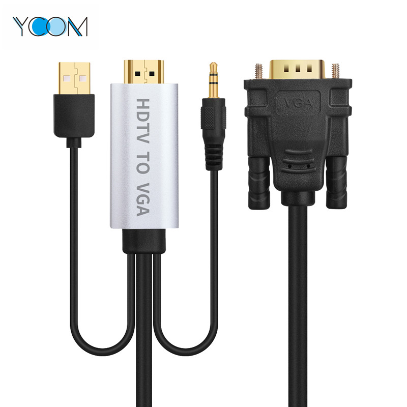 HDMI To VGA Cable with USB Cable and Audio Cable