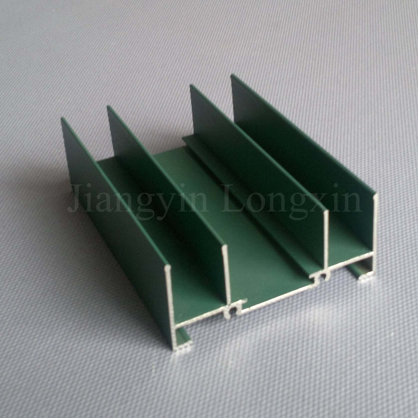 Green Powder Coated Aluminum Profile for Windows