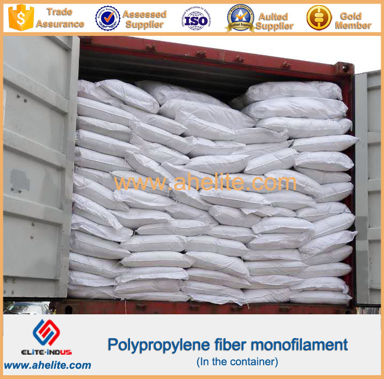 Monofilament pp Polypropylene microfiber Fiber for concrete reinforcement