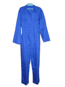 Royal blue worker safety coverall