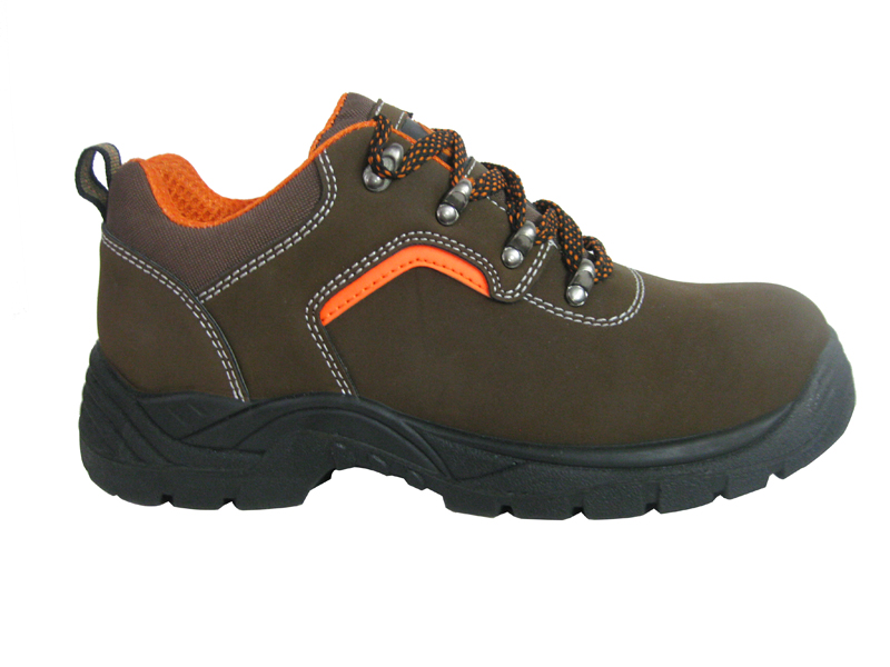 PU nubuck leather PU injection mining safety shoes