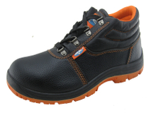 Artificial leather PVC injection construction safety shoes for men