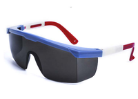 CE EN 166F & ANSI Z87.1 standard PC lens nylon arm safety glasses