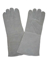 1306 unlined cow split leather welding worker gloves