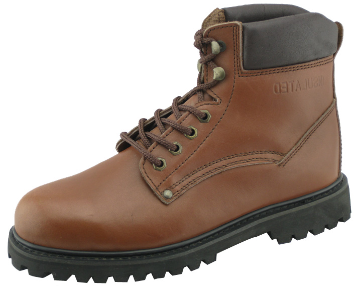 97021 waxy full grian leather goodyear welted boots with steel toe