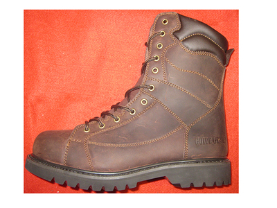 97057 crazy horse leather safety boots with steel toe