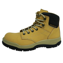 0160 hot sales split nubuck leather men safety boots