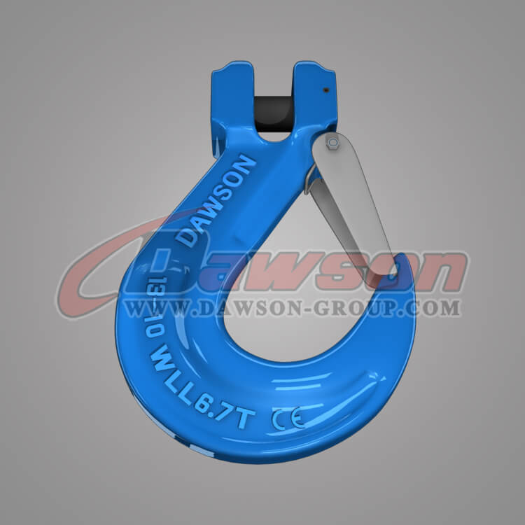 Grade 100 Forged Alloy Clevis Sling Hook with Cast Latch - China Factory, Exporter