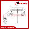 DS786 G80 Ratchet Binder with Safety Hooks with Long Handle, Grade 80 Ratchet Type Load Binder
