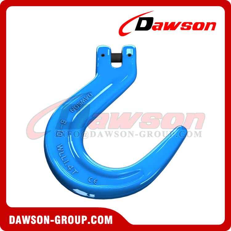 Grade 100 Forged Steel Clevis Foundry Hook, G100 Clevis Type Large Opening Hook for Lifting - Dawson Group - China Factory, Supplier