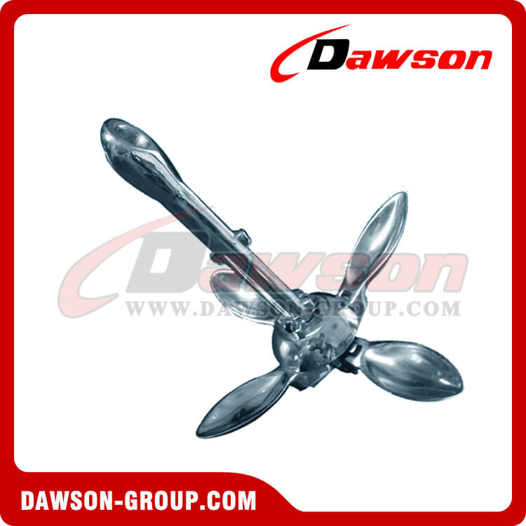 Stainless Steel 316 Folding Anchor Type A / Boat Fitting Folding Grapnel Anchor