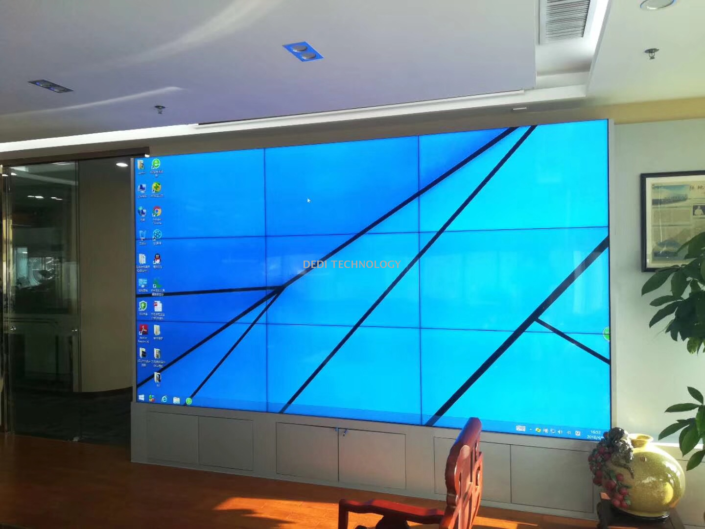 "55"" LED Display Big Screen LCD Video Wall Display"