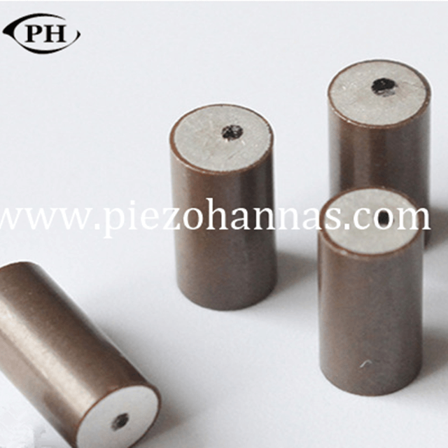 high sensitivity piezo cylinder transducer in series for thickness sensor