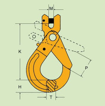G80 SAFETY CLEVIS HOOK CLG TYPE