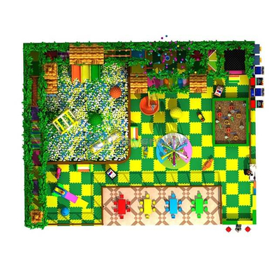 Large Play Zone Jungle Theme Soft Kids Indoor Playground Equipment