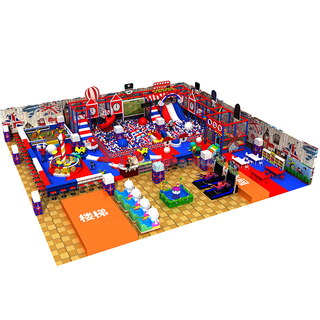 England Theme Park Children Soft Indoor Playground with Ball Pit