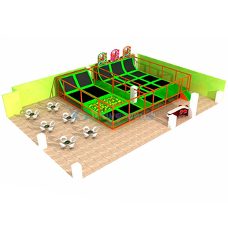 Jungle Themed Amusement Kids Trampoline Park with Foam Pit
