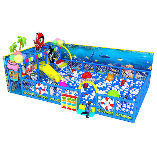 Ocean Theme Amusement Park Soft Children Ball Pool with Slide