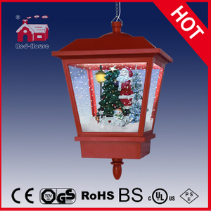 (LH27045-B-R) Plastic and Metal Hanging Lamp Santa Claus Decoration