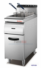 HGF-90A 1-tank 2-basket gas fryer with cabinet