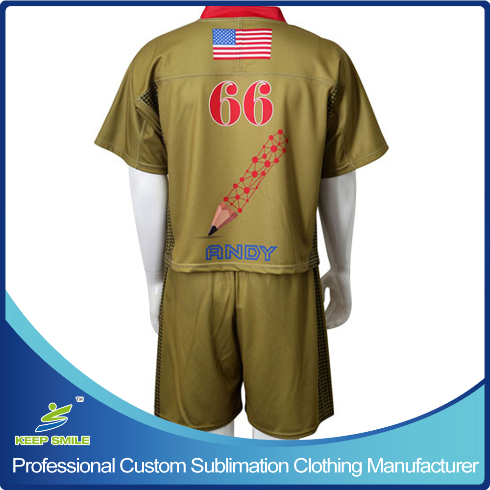 Custom Sublimated Lacrosse Uniforms with Game Jersey and Short